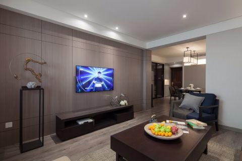 简约风格110平米二居室房子装修效果图