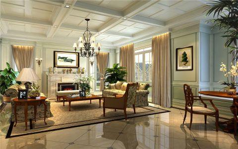 客厅吊顶美式风格装饰效果图
