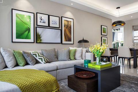 现代风格90平米三居室房子装修效果图