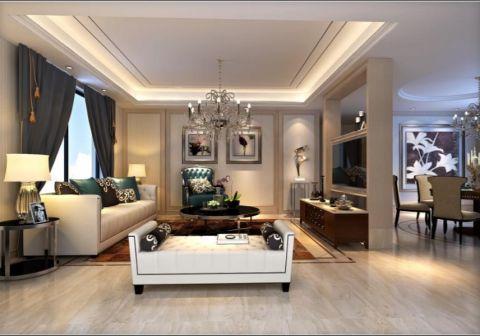 现代风格160平米大户型房子装修效果图
