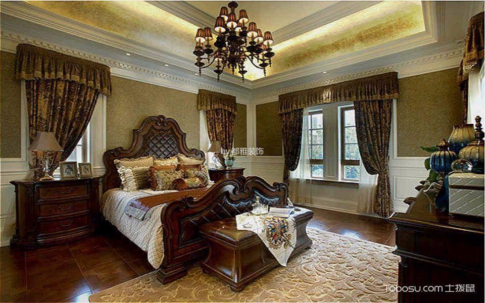 卧室 窗帘_欧式风格160平米三居室房子装修效果图