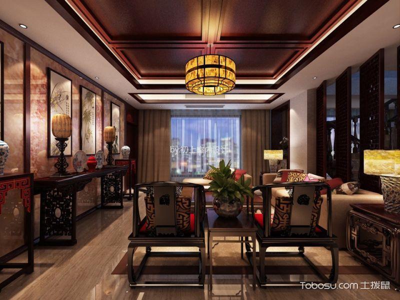 中式风格220平米复式房子装修效果图