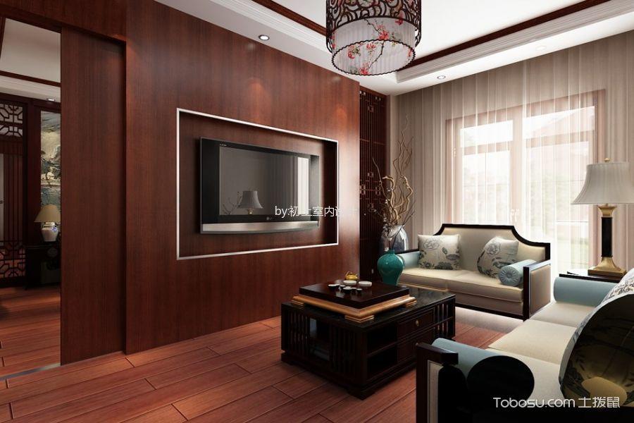 客厅 窗帘_中式风格220平米复式房子装修效果图