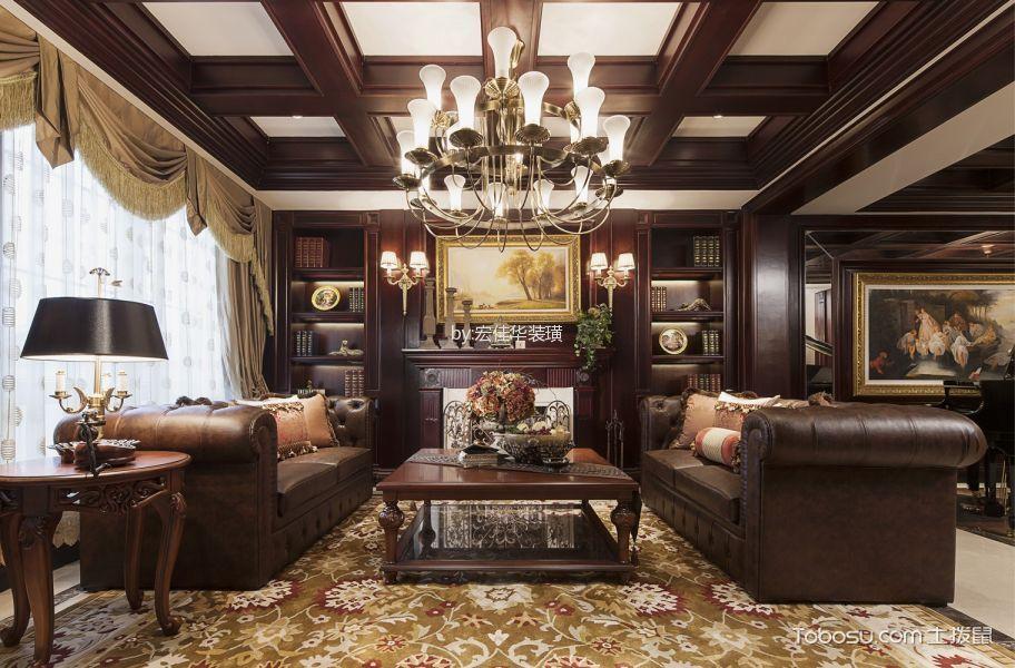 美式风格220平米四居室房子装修效果图