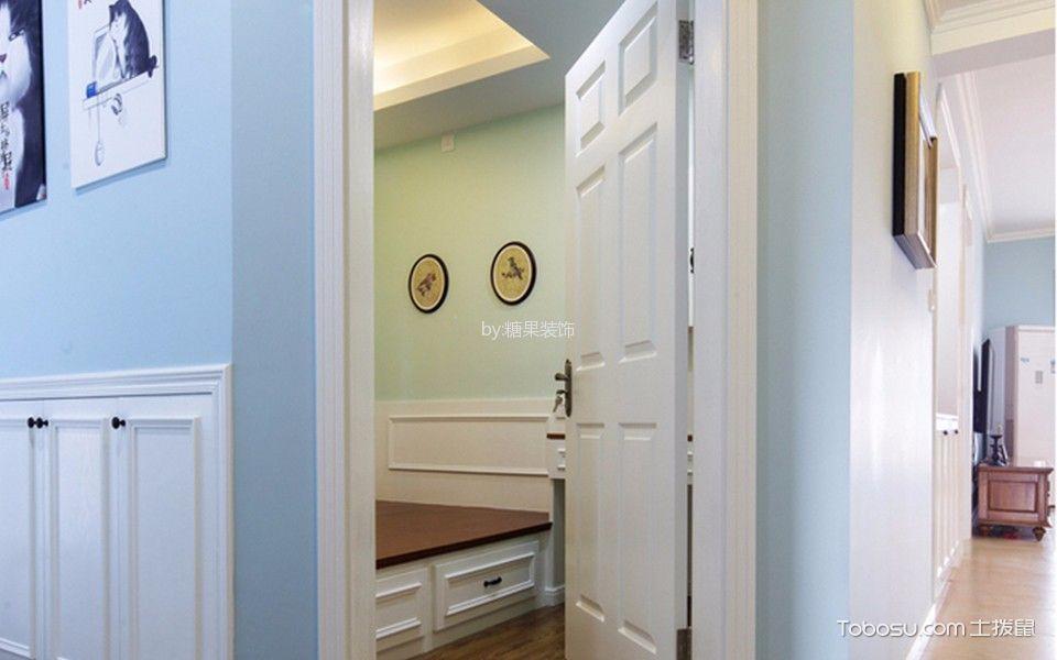 卧室 背景墙_美式风格110平米三居室房子装修效果图