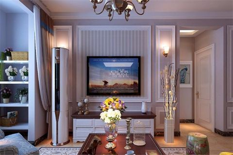 现代简约风格110平米楼房装修效果图