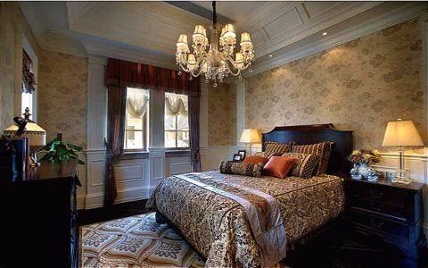 卧室吊顶欧式风格装饰效果图