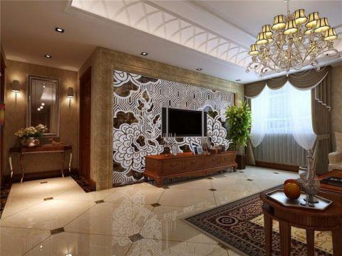 简欧风格220平米二居室房子装修效果图