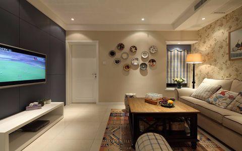 美式风格70平米二居室房子装修效果图