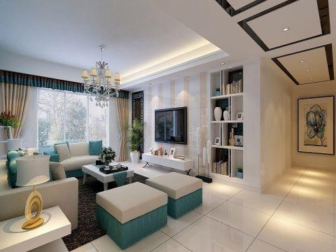 保利香槟国际三居室现代风格效果图