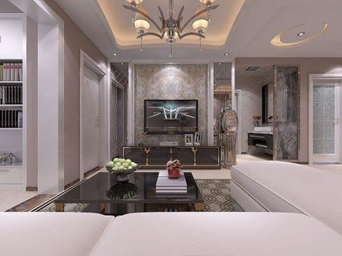 恒大帝景三居室现代风格效果图