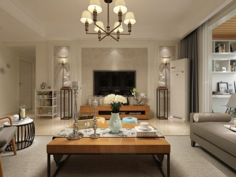 中铁国际城旭园三居室现代风格效果图