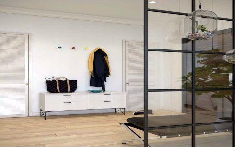 玄关背景墙简单风格装饰效果图