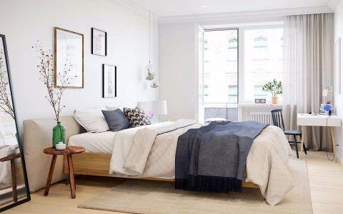 卧室背景墙简单风格装潢效果图