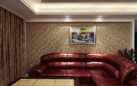 客厅窗帘现代中式风格装潢图片