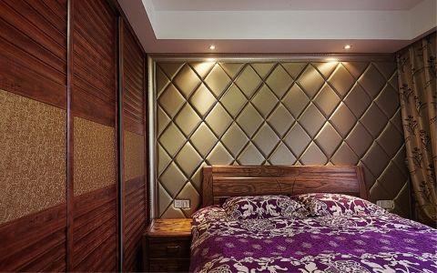 卧室背景墙现代中式风格装饰设计图片