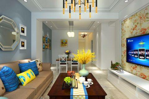客厅背景墙田园风格装修效果图