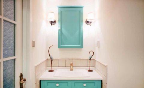 卫生间背景墙田园风格装潢设计图片