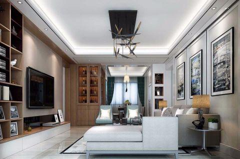 简约风格110平米三居室房子装修效果图