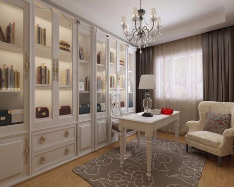 书房博古架美式风格装饰设计图片