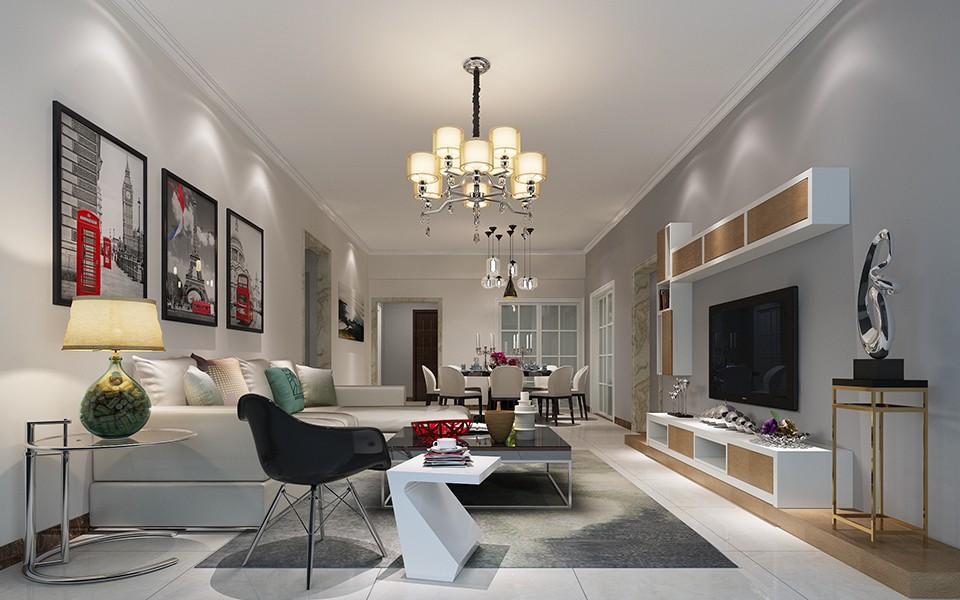 3室1卫1厅132平米现代简约风格