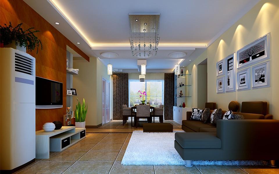 3室2卫2厅92.3平米现代中式风格