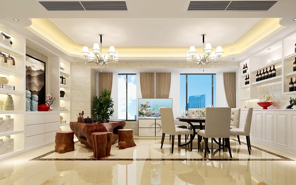 3室2卫2厅140平米现代中式风格