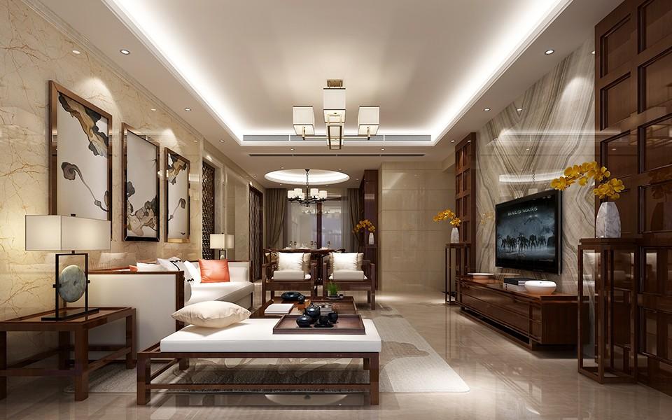5室2卫2厅158平米新中式风格