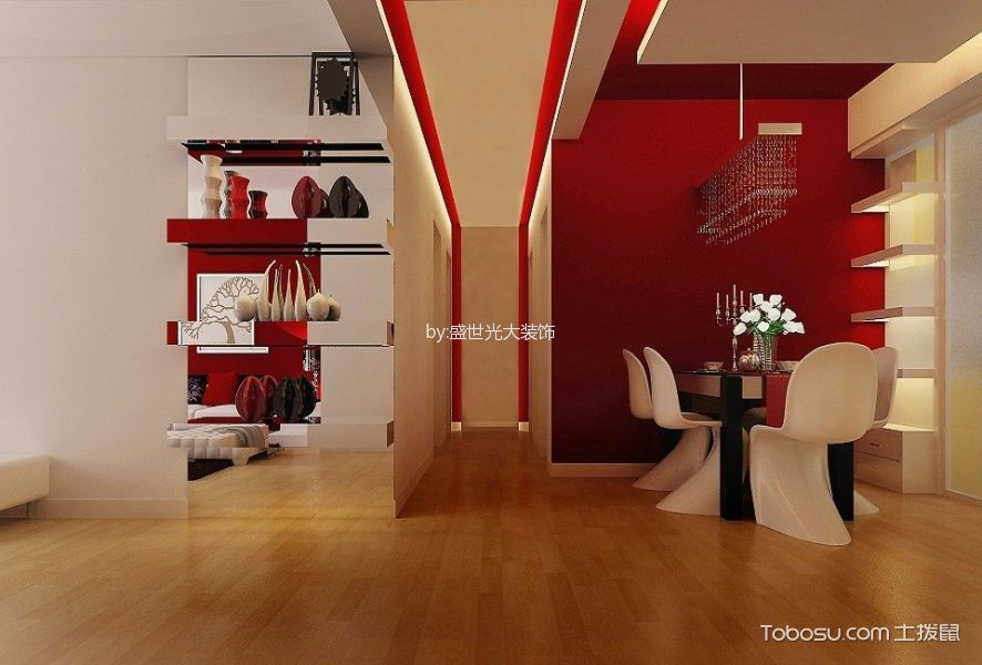 玄关 走廊_混搭风格110平米二居室房子装修效果图