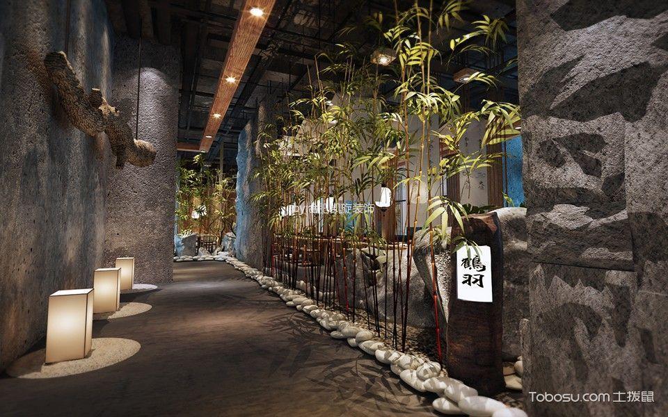 日式料理过道装潢实景图片