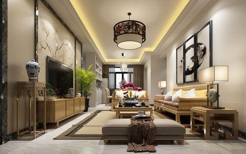 新中式风格110平米套房装修效果图