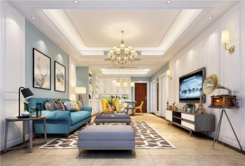 北欧风格160平米三居室房子装修效果图
