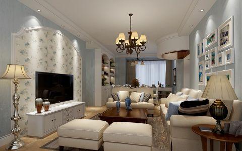 地中海风格160平米三居室房子装修效果图