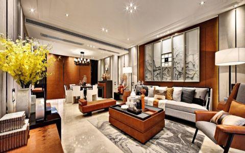 现代中式风格160平米大户型房子装修效果图