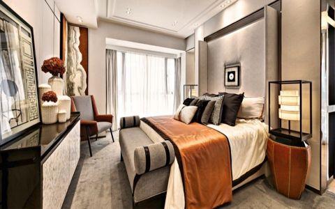 卧室吊顶现代中式风格装修效果图