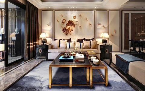 客厅推拉门现代中式风格装饰效果图