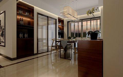 餐厅吊顶新中式风格效果图