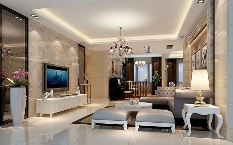 现代中式风格160平米四居室房子装修效果图