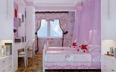 儿童房飘窗现代中式风格效果图