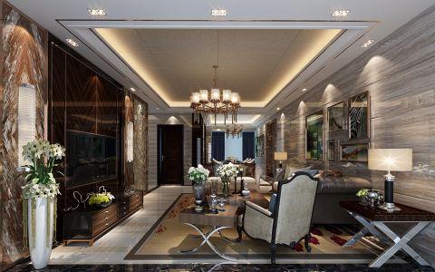 新中式风格160平米四居室房子装修效果图