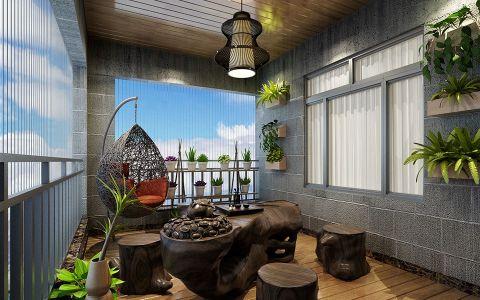 阳台窗台欧式风格装潢设计图片
