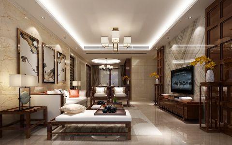 新中式风格160平米大户型房子装修效果图