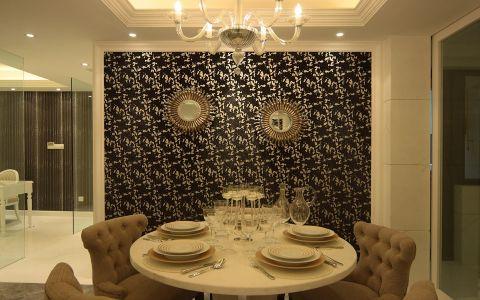餐厅背景墙简欧风格装潢效果图