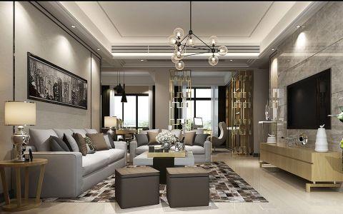 后现代风格160平米四居室房子装修效果图