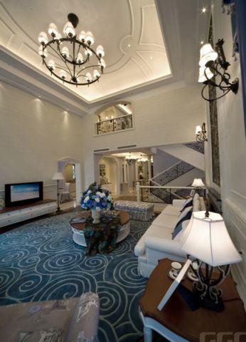客厅楼梯欧式风格装修图片