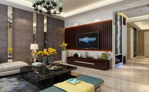 客厅走廊现代简约风格装潢效果图