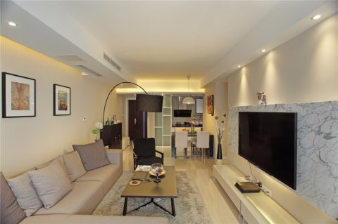 现代简约风格160平米三居室房子装修效果图