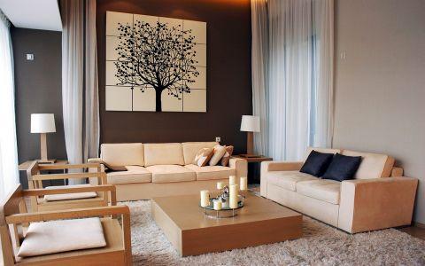 现代简约风格160平米四居室房子装修效果图