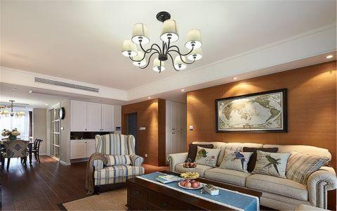 美式风格160平米三居室房子装修效果图