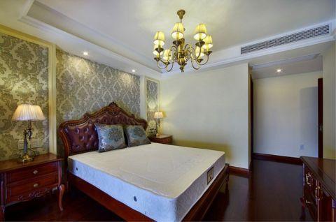 卧室背景墙美式风格装修图片